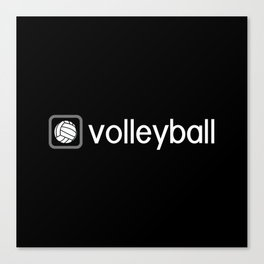 Volleyball (Grey) Canvas Print