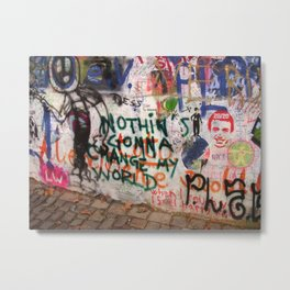 Nothin's Gonna Change My World - Lennon Wall Metal Print