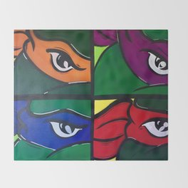 Ninja Turtles Throw Blanket