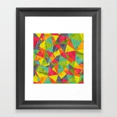 geo frame Framed Art Print