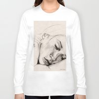 sleep Long Sleeve T-shirts featuring SLEEP by Joelle Poulos