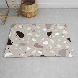 Terrazzo Pattern Design Neutral Mood Rug