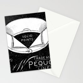 black and white vintage shirt collar retro laundry room Stationery Cards