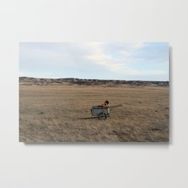 Watched the Mule Run Away for Three Days Metal Print
