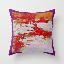 Rugged Terrain Abstract Throw Pillow