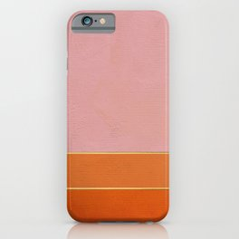 Orange, Pink And Gold Abstract Painting iPhone Case