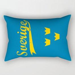 Sweden, Sverige, vintage poster Rectangular Pillow