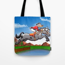 Olympic Equestrian Jumping Dog Tote Bag