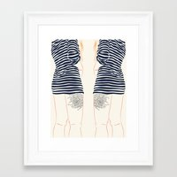 stripes Framed Art Prints featuring Stripes by Elly Liyana