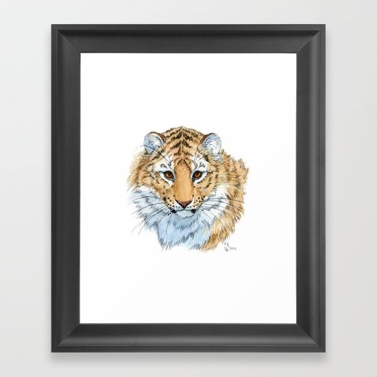 Young Sweet Tiger Framed Art Print