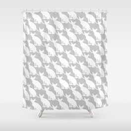 cats pattern grey 17 Shower Curtain