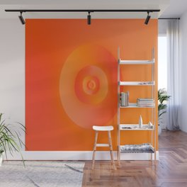 Flip in Orange and Red Wall Mural