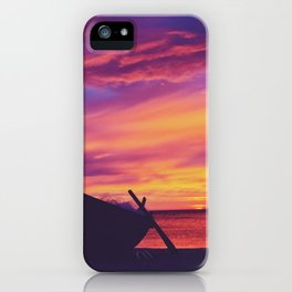 Longtail Thai boat on the beach iPhone Case