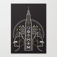 gotham Canvas Prints featuring Gotham by Aliel Arts