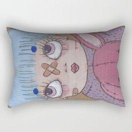 Baby Blue Hair  Rectangular Pillow