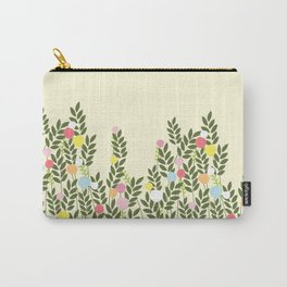 graphic flowers Carry-All Pouch