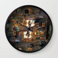the cure Wall Clocks featuring Antic offer gear cure. by Juan Antonio Zamarripa [Esqueda]