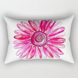 Pink Gerber Daisy Rectangular Pillow