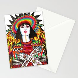 neon geisha Stationery Cards