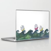 boats Laptop & iPad Skins featuring Boats by K. Fry Illustration