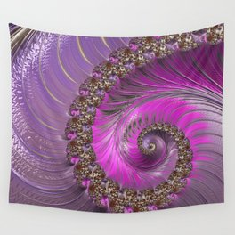 Pink And Purple Wall Tapestry