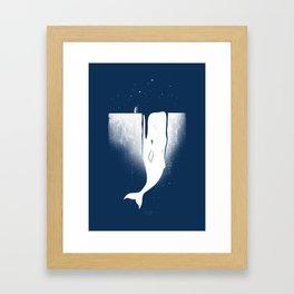 Frozen Leviathan Framed Art Print
