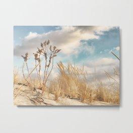 Golden Dune Grass Metal Print