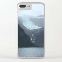 Retreating Glacier Clear iPhone Case