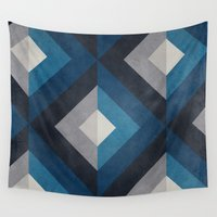 greece Wall Tapestries featuring Greece Hues Diamond by Diego Tirigall