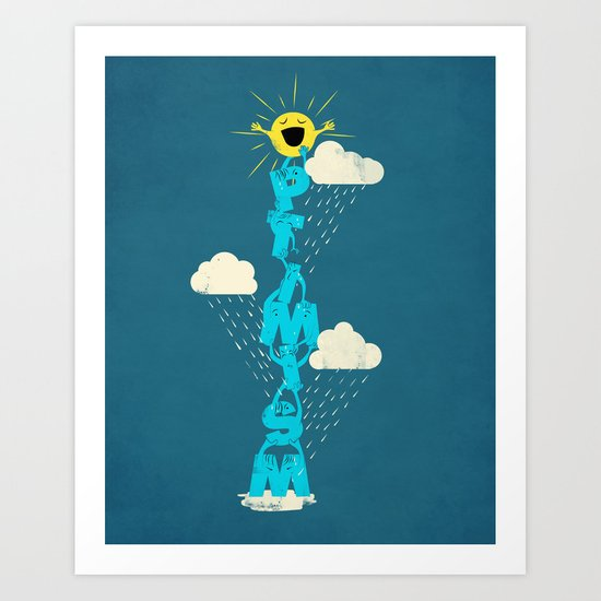 Yay for Optimism! Art Print