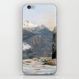 Johan Christian Dahl Winter at the Sognefjord iPhone Skin