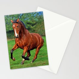 Charging horse Stationery Cards