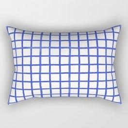 Ink Checks Rectangular Pillow