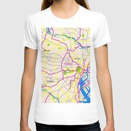 Tokyo Map Design T-shirt