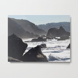 San Francisco Coastal Mist Metal Print