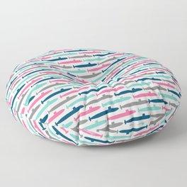 Colorful Submarine Squadron Floor Pillow