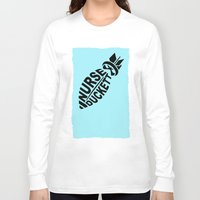 nurse Long Sleeve T-shirts featuring NURSE DUCKETT by 3SCOOPS