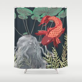 The Fish and the Water Nymph Shower Curtain