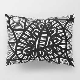 Black and White Doodle 7 Pillow Sham
