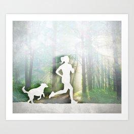 Forest Run Art Print
