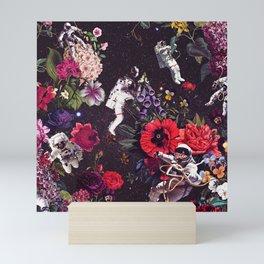 Flowers and Astronauts Mini Art Print