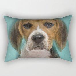 Beagle dog digital art Rectangular Pillow