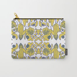Portuguese tile of wild flowers Carry-All Pouch