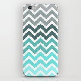 Tiffany Fade Chevron Pattern iPhone Skin