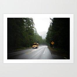On the way to school - Oregon Art Print