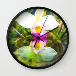 Orchid reflection Wall Clock