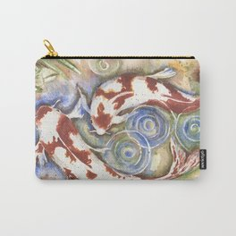 Koi Fish Watercolor Painting Carry-All Pouch