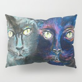 They Meet in the Night (Cats) Pillow Sham