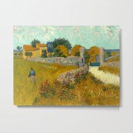 "Vincent van Gogh ""Farmhouse in Provence"" Metal Print"