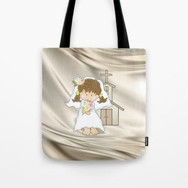 My Little Barefoot Bride Tote Bag